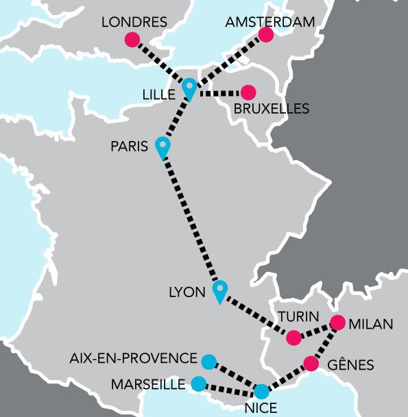 Le réseau iDBUS en Europe - DR