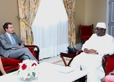 Pascal de Izaguirre en compagnie du président de la République sénégalaise - DR
