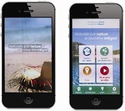 """L'application """"Naturiste par nature, le bien-être intégral"""" est disponible gratuitement sur Internet - DR"""