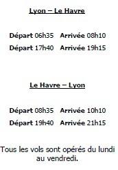 Twin Jet : vols Lyon-Le Havre dès le 16 septembre 2013