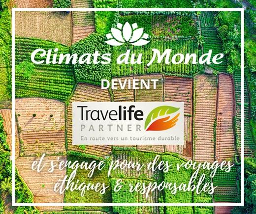 Tourisme responsable : Climats du monde obtient le statut Travelife Partner