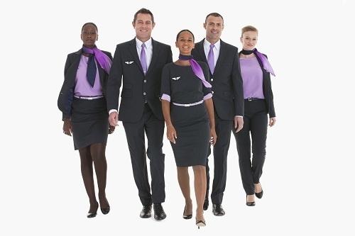 Les nouveaux uniformes de Corsair affichent des tons bleus-gris et lilas - Photo DR