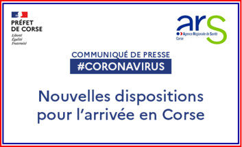 Vaccins, tests : de nouvelles dispositions sont mises en place pour l'arrivée en Corse - DR
