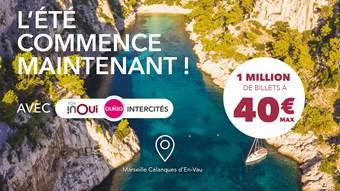 1 million de billets TGV INOUI, OUIGO et Intercités sont disponibles jusqu'à 40€ maximum - DR