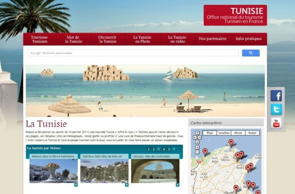 Le site internet bonjour-tunisie.com : valoriser la diversité et mettre en avant les TO - Capture d'écran