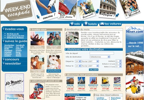 Week-end-escapade.com : Zitrocom Voyages lance un 4ème site
