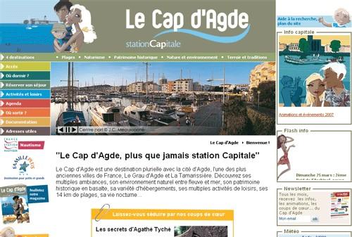 Office de Tourisme Cap d'Agde : nouveau site Internet