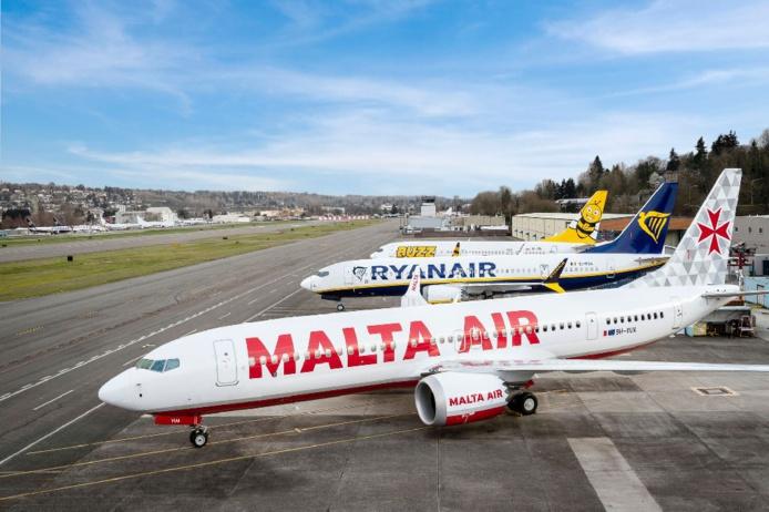 """Ryanair a pris livraison du premier B737-8200 sur la commande ferme passée de 210 de ces avions """"Gamechanger"""". - DR Ryanair"""
