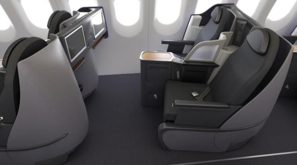 L'appareil sera configuré en tri-classe avec 128 sièges, dont 102 en cabine principale, 18 en « Main Cabin Extra » et 8 en Première Classe.
