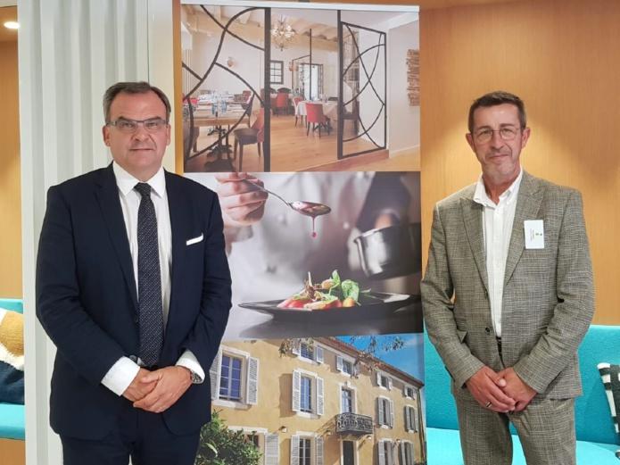 Fabrice Galland, Président et Alain Bekaert, Vice-Président Groupe LOGIS HOTELS - DR