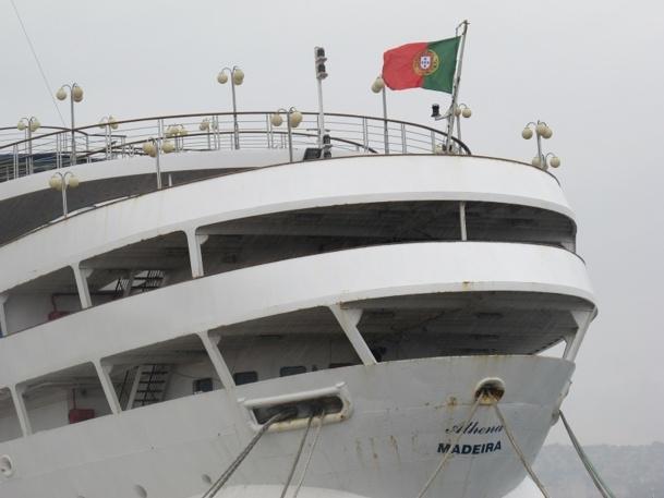 Avec l'Arion, le Princess Danae et le Funchal, l'Athena fait partie des 4 navires rachetés par Rui Alegre à Classic International Cruises - Photo P.C.