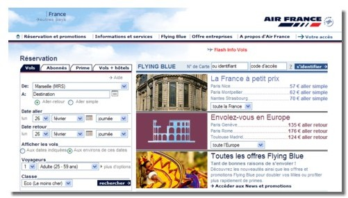 airfrance.fr : 6 000 billets vendus chaque jour sur le site web
