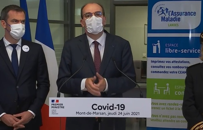 Jean Castex déplore la décélération de la vaccination en France - Capture écran BFM TV