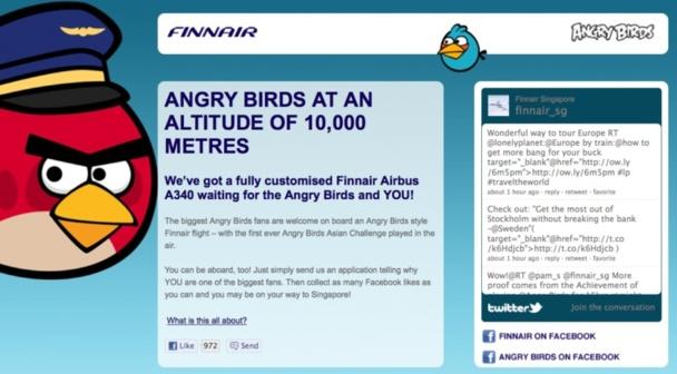 Des événements-surprises à bord servent à ajouter une dimension supplémentaire au vol. Lorsque l'initiative est un succès, la nouvelle se propage rapidement sur les médias sociaux et génère une grande visibilité au transporteur. Pensons au vol sur le thème Angry Birds de Finnair - DR