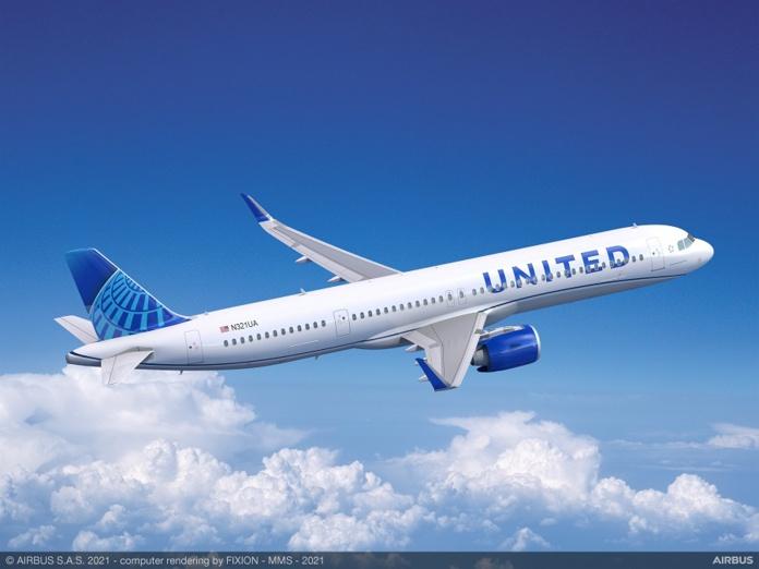 United Airlaines vient de commander 70 Airbus A321neo et 200 Boeing 737 MAX - Crédit photo : Airbus