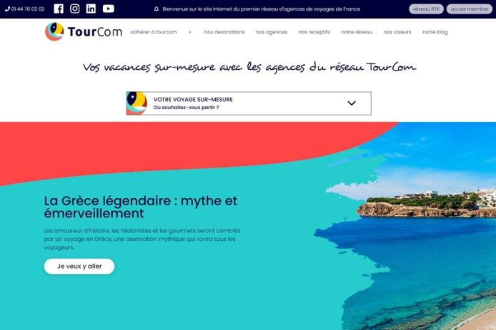 Les agences de voyages pourront envoyer leur demande d'adhésion au réseau directement via le site - DR : TourCom