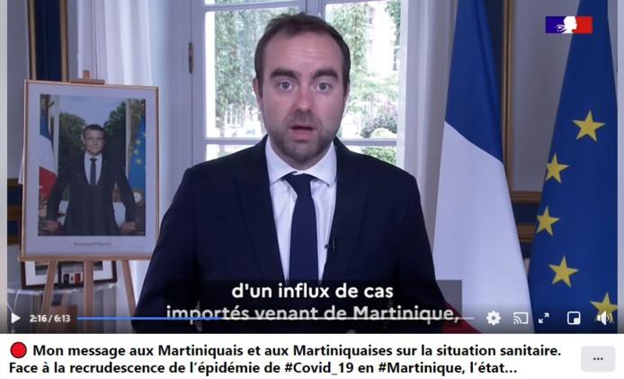 Sébastien Lecornu Ministre des Outre-mer a annoncé le retour des motifs impérieux entre l'Hexagone et la Martinique dès le 21 juillet - DR