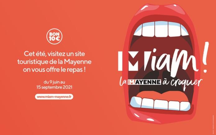 """La Mayenne relance l'opération """"Miam ! La Mayenne à croquer"""" en soutien aux acteurs de la restauration et du tourisme - DR"""