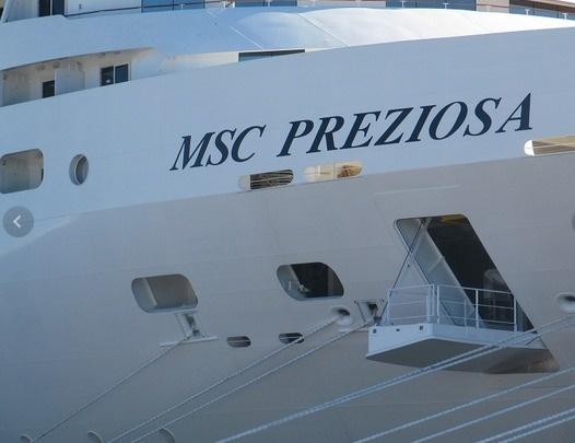 Le MSC Preziosa partira de Gênes pour rejoindre Santos au Brésil - Photo P.C.