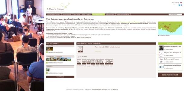Authentic Escape propose des prestations pour professionnels et particuliers - Capture d'écran