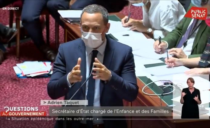 Le gouvernement a déposé un amendement afin de rétablir l'état d'urgence sanitaire en Guadeloupe - DR : Capture d'écran Public Sénat