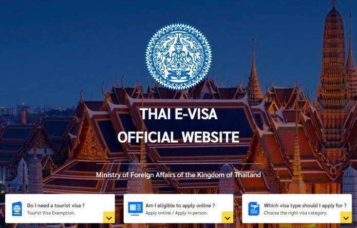 Le visa thaïlandais sera entièrement électronique à la fin de l'année © MFA Thailand (thaievisa.go.th)