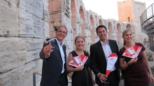 Les représentants de l'ONTA et d'Austrian Airlines