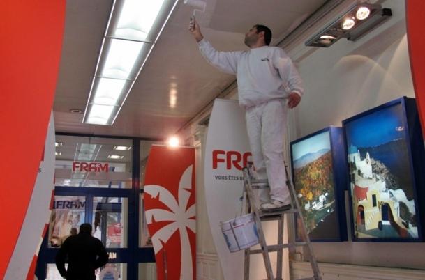 """Fram est toujours en """"travaux"""" mais la couche de peinture ne suffira probablement pas... /photo JDL"""