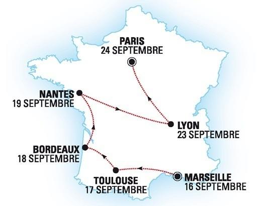 L'itinéraire complet du roadshow évasion Hiver 2014 d'Héliades - DR