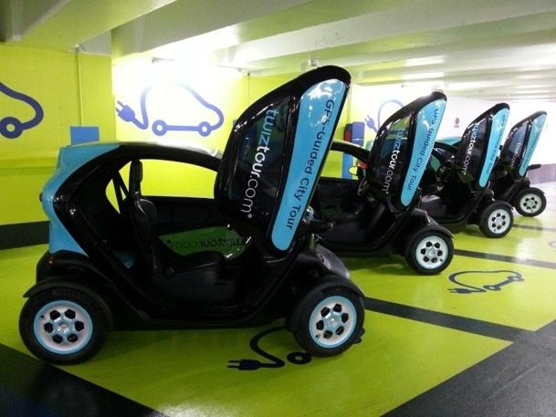 Twizy est un véhicule de deux places entièrement électrique et silencieux - Photo DR