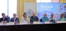 J-C Gaudin, maire de Marseille, entouré de plusieurs représentants du tourisme de la ville - DR : A.B.