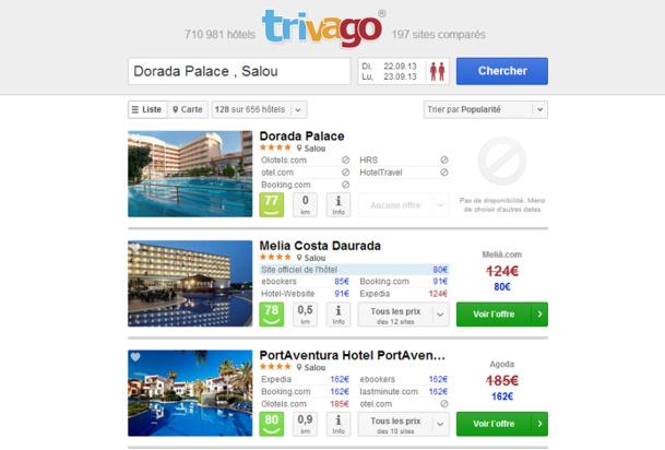 Pour leur réservation, Christophe et sa femme sont passés par le site Clever-Hotels.com vers lequel ils avaient été redirigés par Trivago.fr - Capture d'écran