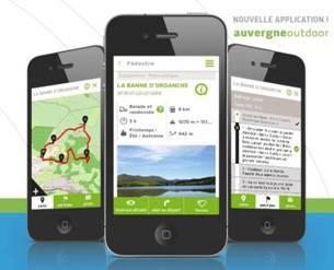 """L'application """"Auvergne Outdoor"""" est disponible pour iOS ou Androïd - DR"""
