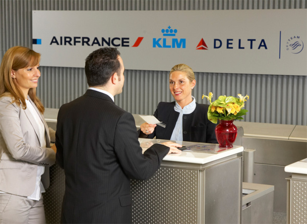 La Joint Venture Air France/KLM  et Alitalia incluait pourtant l'ensemble des vols opérés entre l'Europe et l'Amérique du nord.   Elle avait aussi tenté, sans succès, de développer  une présence à Londres Heathrow, la toute puissante plate-forme alimentée par un trafic Premium inégalé. Photo Philippe Delafosse