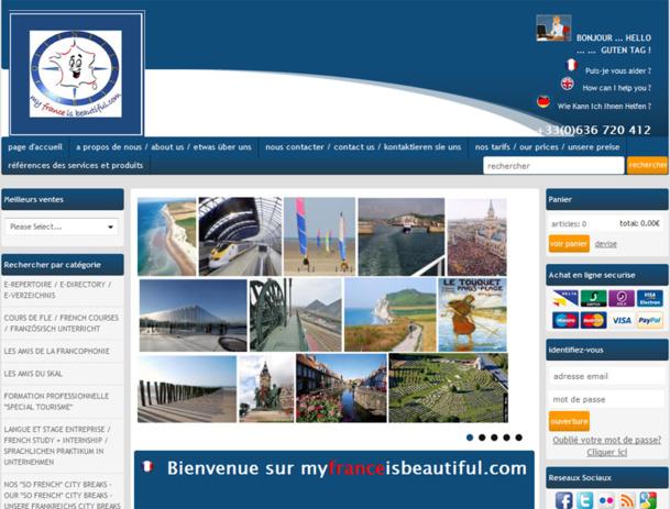 Site internet dédié à la promotion de l'expression de la langue française et du patrimoine touristique en France. - DR