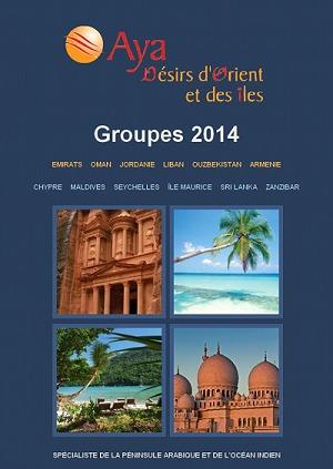 La brochure Groupes 2014 d'Aya Désirs d'Orient et des Îles sera présentée sur le stand H65 à l'IFTM - DR
