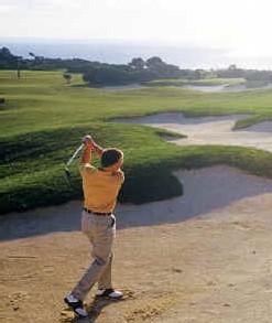 Les superbes bunkers de l'Aphrodite Hills Golf Club