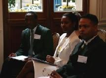 Maurice Pholelli (SAA), Khanyi Dhlomo et T. Massanabo, business tourism
