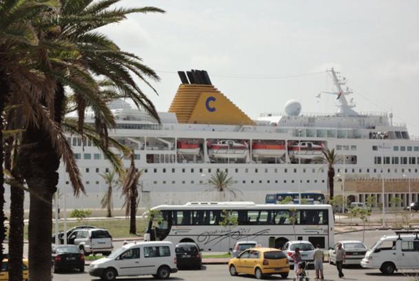 Le Costa Voyager a effectué une escale dans le port de croisière de la Goulette - DR