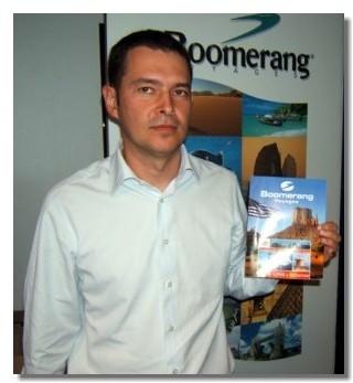 Pascal Villa, chef produit présente la nouvelle brochure Boomerang USA