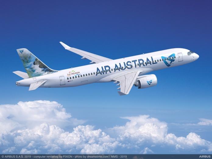 La Compagnie Air Austral va obtenir une nouvelle aide d'Etat de 20 M€ - photo Airbus