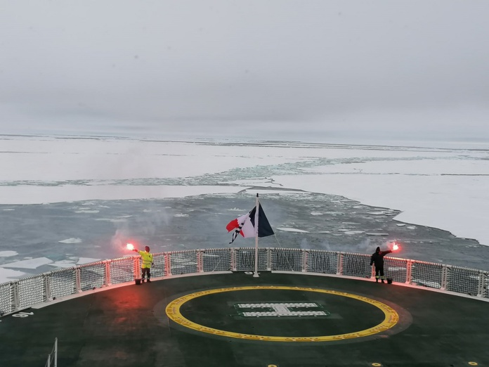 Le Commandant Charcot est le premier paquebot français à atteindre le pôle Nord géographique - DR : Ponant, Alexiane Eymard