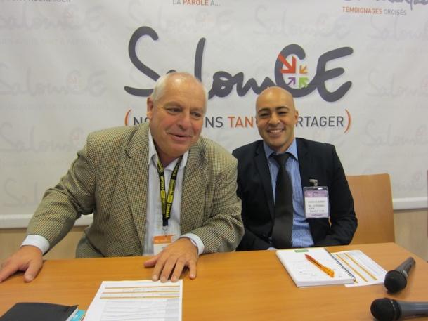Franck Voragen et Khalid El Wardi ont tenté d'aider les responsables de CE a réussir leur voyage de groupe. DR