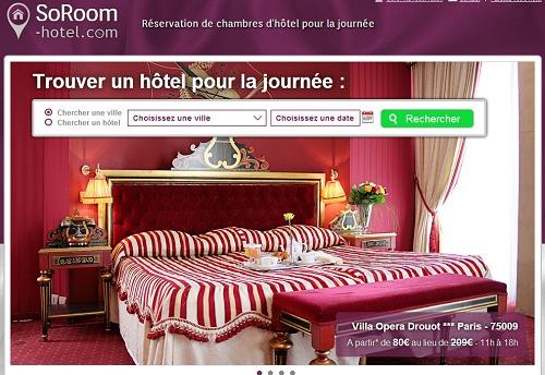 Les hôteliers qui s'inscrivent sur SoRoom-hotel.com avant le 15 octobre 2013 bénéficient d'une commission à 15 % au lieu de 18 % - Capture d'écran