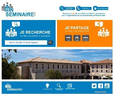 Sur UnSeminaire.com, il est désormais possible de déposer un avis sur un établissement, une activité ou un prestataire - Capture d'écran