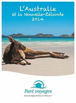 Parmi les 3 brochures actuellement diffusées en agences de voyages par Faré Voyages, l'Australie et la Nouvelle-Zélande font figure de nouveauté pour 2014 - DR