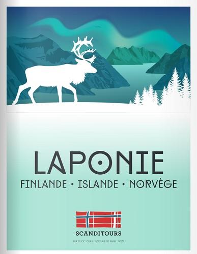 La brochure Scanditours Laponie : challenge de ventes pour les agences de voyages - DR