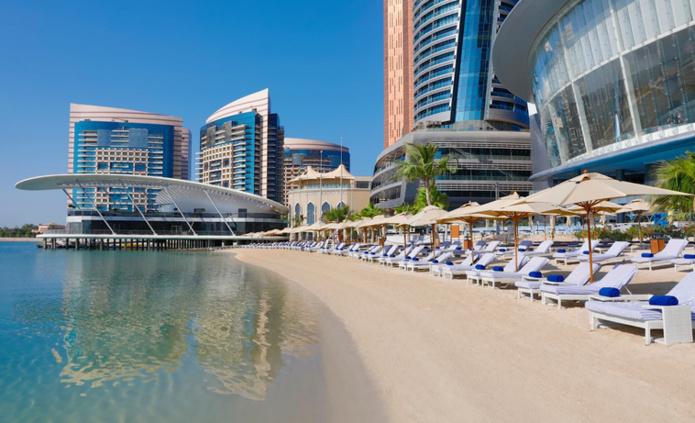 Plage du Conrad Abu Dhabi Etihad Towers hotel (DR-Conrad Abu Dhabi Etihad Towers Hotel)