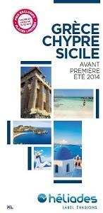 """La brochure """"Avant-première 2014"""" présente la production d'Héliades en Grèce et en Sicile - DR"""