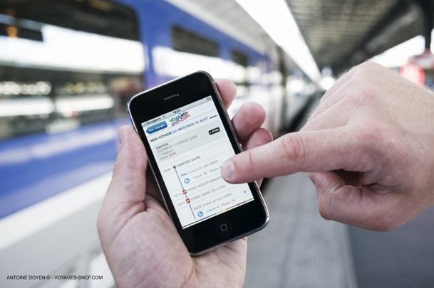 Le volume d'affaires réalisé sur l'application V. et sur le site mobile de Voyages-sncf.com a augmenté de 70% par rapport à juillet et août 2012